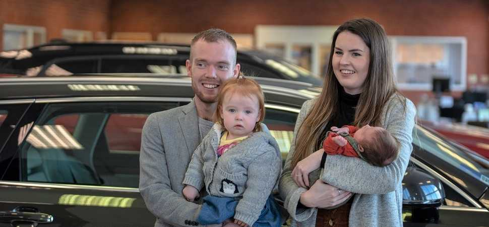Worcester mother gives birth to son in a Volvo
