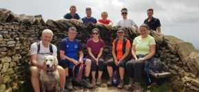 Pierce treks the three peaks for local charity
