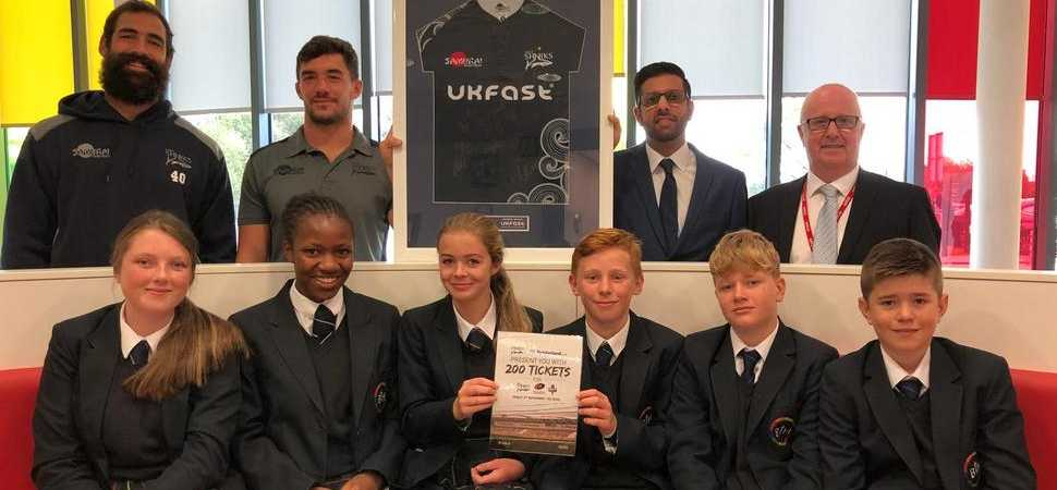 Sharks stars surprise Altrincham college students with 200 free tickets
