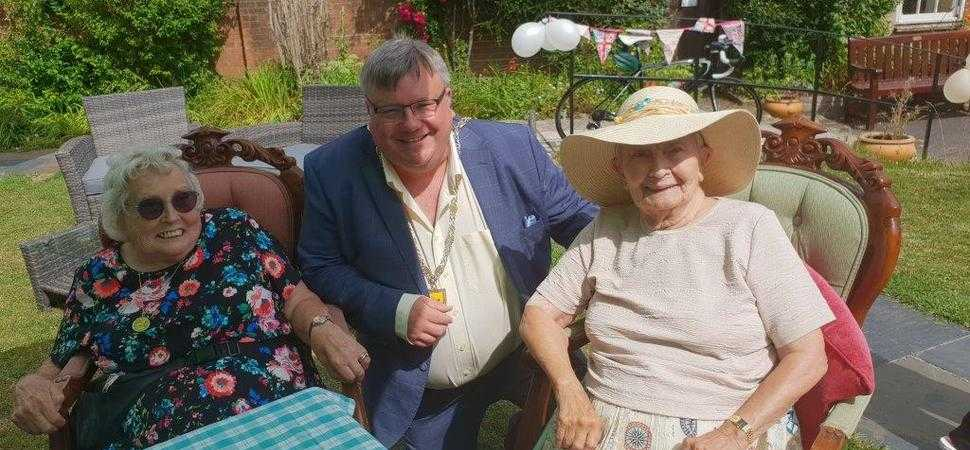 Mayor joins residents for care home community garden party