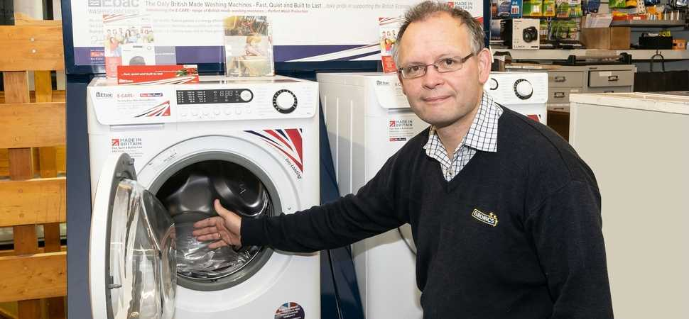 Bakewells one of first with new British made washers from Ebac