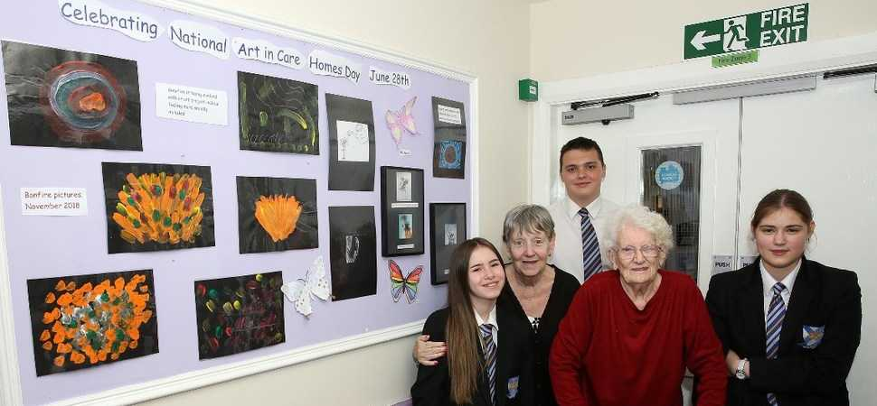 Art builds bridges across the generations at Sheffield Care Home