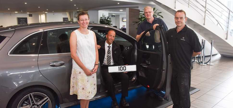 Beaconsfield car retailer colleagues celebrate 100 not out!
