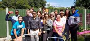 NCS volunteers give Essex care home a summer makeover