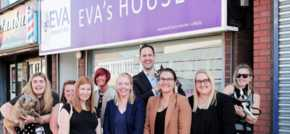 Redcar solicitors and playful pups raise significant funds for womens aid charity