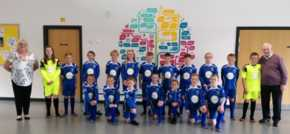 Football crazy care home residents kit out primary school team