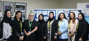 Emirati mums go back to school to support youngsters with reading with Teesside trainers