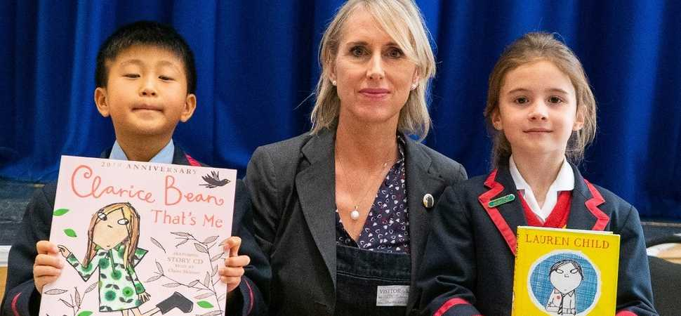 Top childrens author introduces character from her new book to Yarm School audience