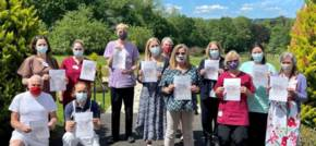 Team From Renovo Care Group Walk The Renovo Way For The Stroke Association