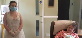 Blaenau Gwent care home resident virtually attends family wedding