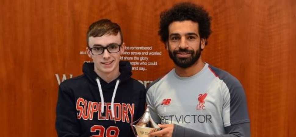 Liverpool fan flies in from Northern Ireland to meet idol Mo Salah