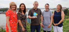 Caring Team Get Award For Caring for Staff