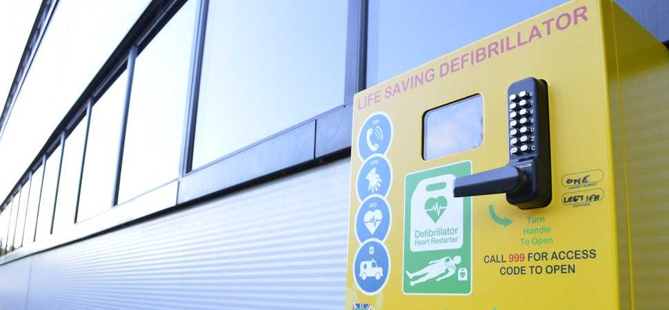Pall-Ex installs new public access defibrillator at Ellistown HQ