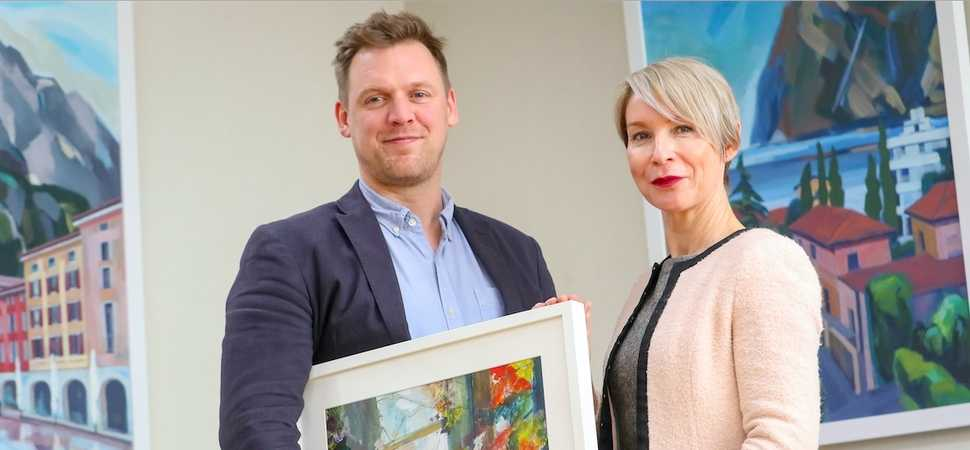 Work from aspiring artists adorns the walls of legal firm