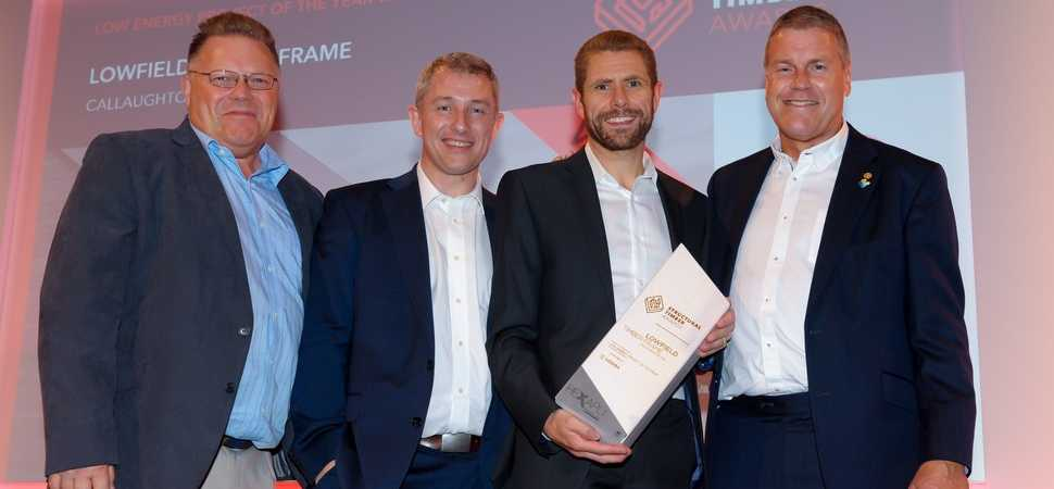 Timber frame specialist scoops national award for low energy housing project
