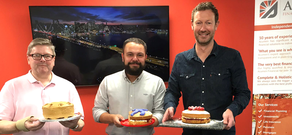Bake Off charity challenge for financial firm Acumen