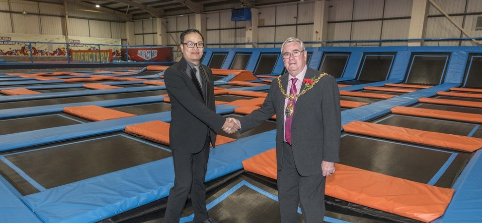 Mayor opens new £1m Air Factory trampoline park in St Helens