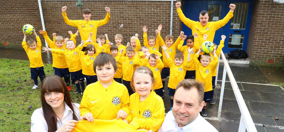 Youth football club strike lucky with AkzoNobel sponsorship