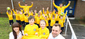 North East youth football club strike lucky with AkzoNobel sponsorship