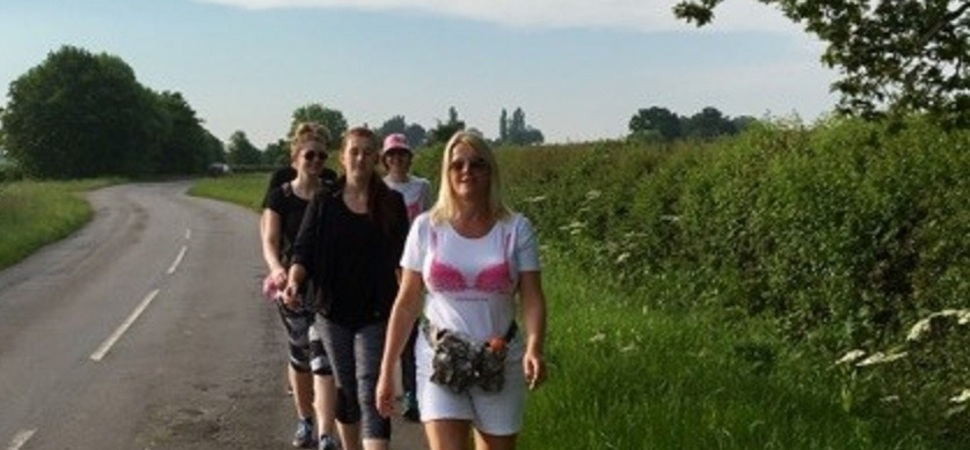 Moonwalk for breast cancer charity