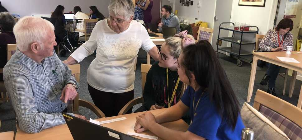 Students become teachers as they share tech tips with Wirrals older generations