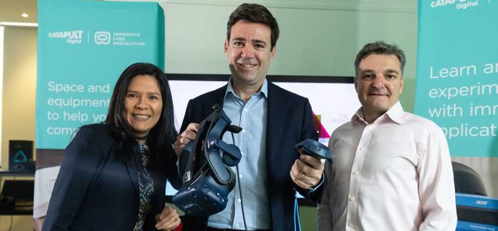 Andy Burnham unveils UKs first 5G enabled immersive technology lab at MediaCity