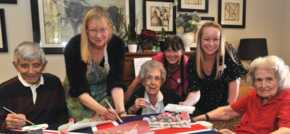 Down to a fine art  local students join Knebworth care home for the worlds largest drawing festival