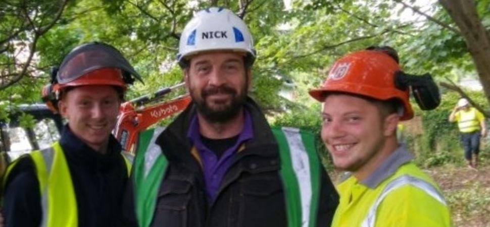 Lights, camera, action! Apprentices dig deep for DIY SOS
