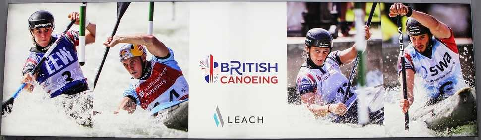 Leach displays to provide backdrop for extreme canoe slalom contest