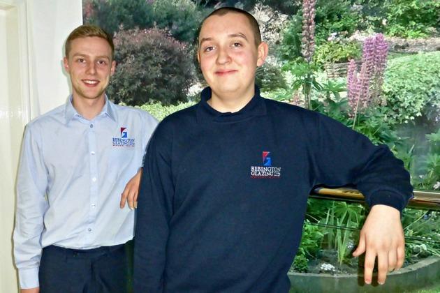 Bebington Glazing welcomes duo of new apprentices on board