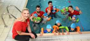 Youngsters receive special swimming lesson with Olympic gold medallist Becky Adl