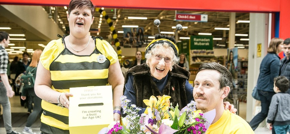 Tesco Helps Hull's Bee Lady Towards £95,000 Charity Target