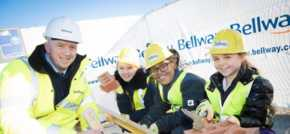 Pupils from Springwell Park Primary enjoy bricklaying taster with Bellway