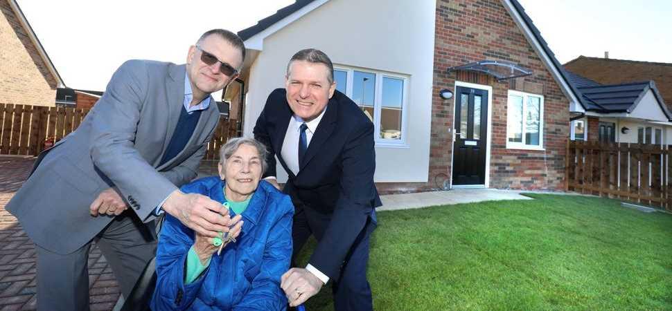 Tenants joy at new homes in Seahouses