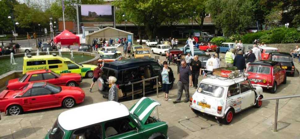 Classic Vehicle Show Motors Into Swansea City Centre For Father's Day