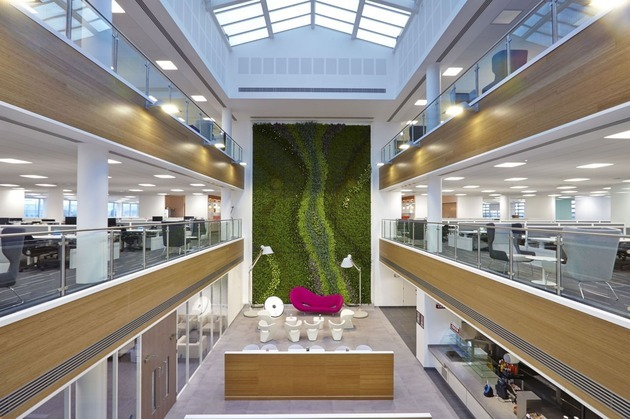 Lustalux Install Window Film To Protect Centrica's Living Green Wall