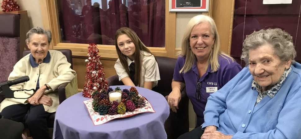 Local students bring festive cheer to Hailsham care ho-ho-home