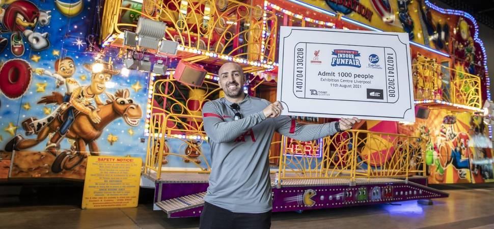 Liverpool footballer Jose Enrique backs Indoor Funfair 1000 tickets giveaway