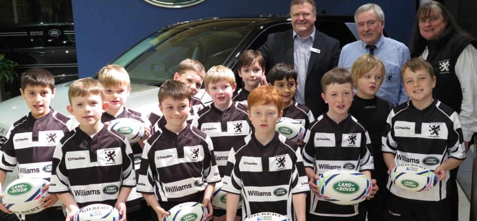 Williams Land Rover invests in Broughton Park Rugby Club's Under 9s Team