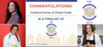 Anishya Kumar of Zinda Foods shortlisted as finalist for the 7th British Indian Awards 2019