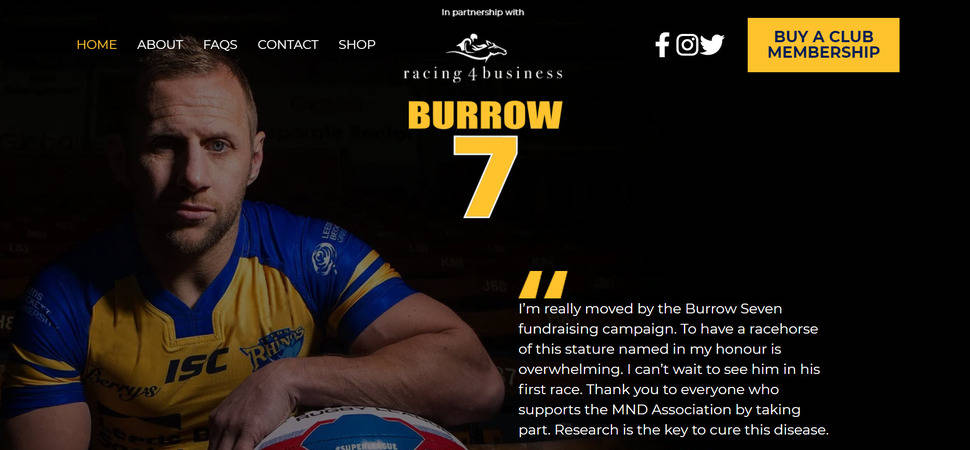 Numagoo partners with Rob Burrow fundraising campaign to help beat MND