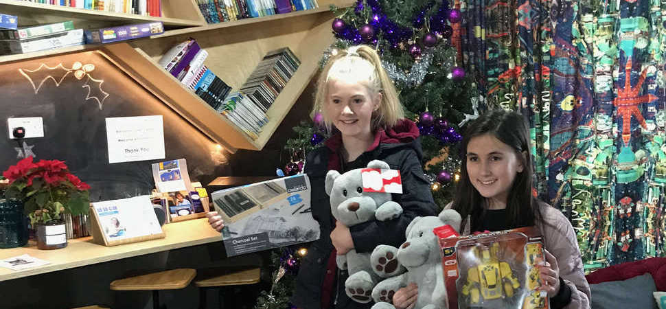 Lytham girls give up their own gifts for Blackpool Carers Centre