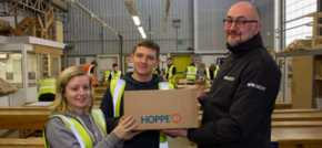 Stoke-on-Trent firm promotes real-life learning with door hardware donation