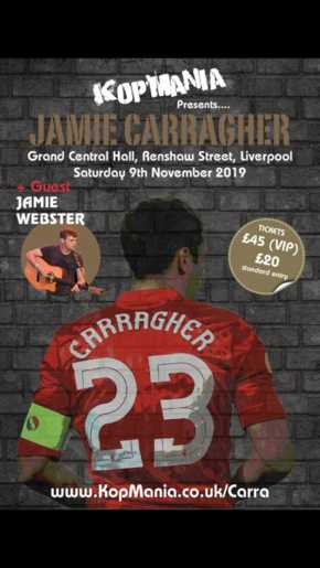 An evening with Jamie Carragher at the Grand Central Liverpool