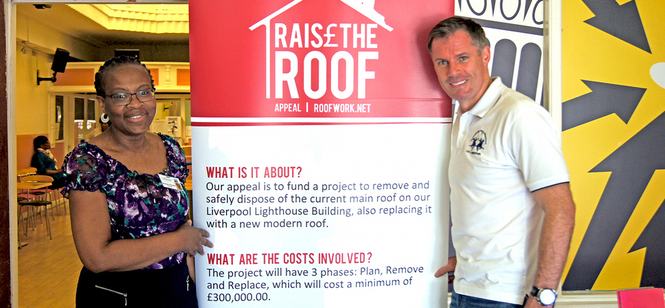 Jamie Carragher backs Liverpool Lighthouse campaign to raise the roof
