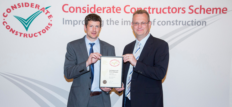 Jones Bros & Balfour Beatty scoop gold for considerate construction