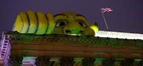 Shrek lands at Liverpool's St George's Hall
