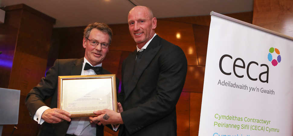 Veteran quantity surveyor from Conwy recognised at national industry awards