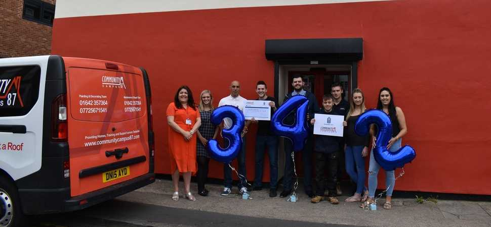 Pickerings Lifts Head Office raises £342 for local homelessness charity