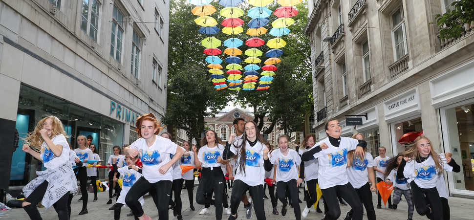 Merseyside children perform flash mob for BBC Music Day